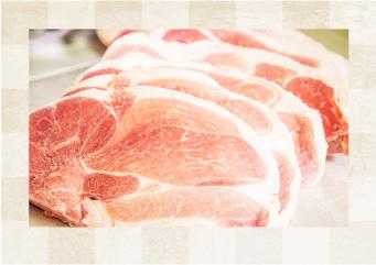 広島産の霜降り豚肉